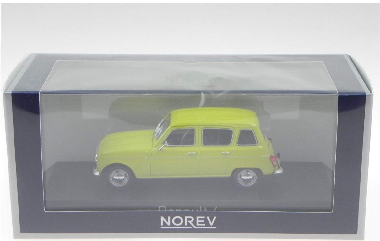 ° Norev 510086 renault 4 GTL gris metalizado escala 1:87 maqueta de coche nuevo